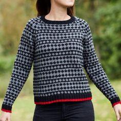 Mads Nørgaard damesweater sort/grå