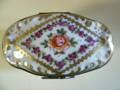Limoges Trinket - Pill box, superb Quality Hand Painted Beautiful Example. I, luckily live not a million miles away from Limoges, one often