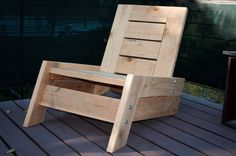 modern/vintage reclaimed wood deck chair. $275.00, via Etsy. another view
