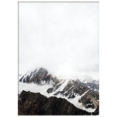 Mountain tops, poster via Polyvore featuring home, home decor, wall art, personalized home decor, personalized posters, mountain wall art, photo poster and photo wall art