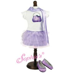 Lavender Tulle Skirt, Purse Graphic T & Satin Scarf
