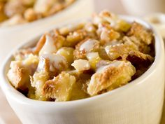 Bread Pudding With White Chocolate Sauce Recipe on Yummly. @yummly #recipe