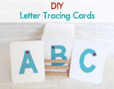 Playful Learning: DIY Letter Tracing Cards—great for the budding writer in your life...