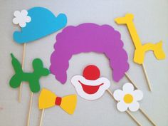 clown wig photo booth props - Bing Images