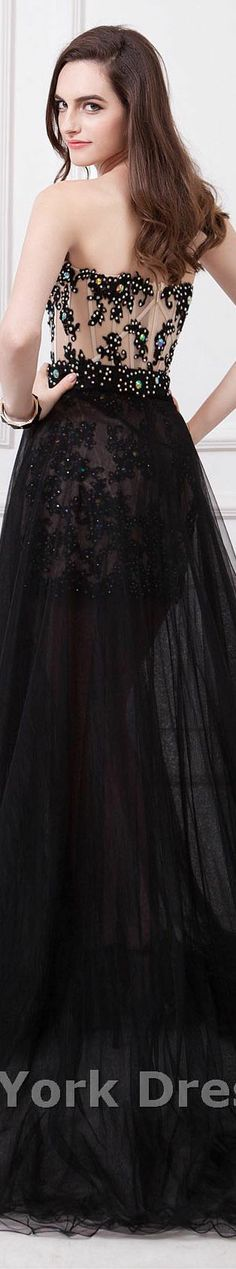 Angela and Alison design #formal #strapless #elegant #night #black #dress #sexy #back