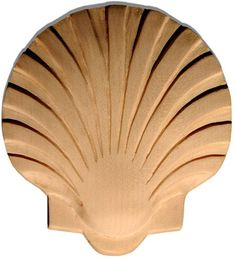 carved wood shell.   inviting home.