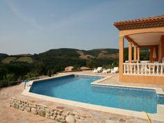 Hélios, Luxe villa voor 10 personen met privé zwembad in Roquebrun. Prachtig uitzicht!