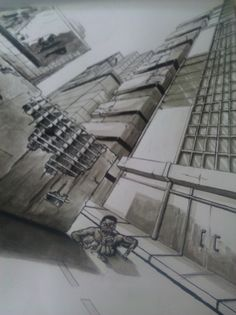 3 point perspective exercise 2 by beamer on DeviantArt | Art - how ...