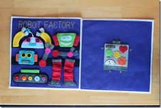 Robot Factory Quiet Book