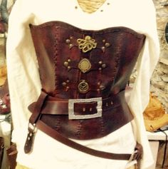 Steampunk corset by UNZIPO on Etsy