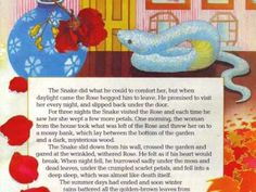 The snake and the rose... romance from childhood.