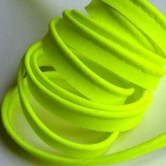 Passepoil coton jaune fluo 10mm - néon