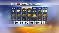 7-Day Forecast - WBOY.com: Clarksburg, Morgantown: News, Sports, Weather