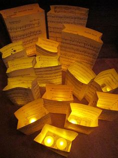 60 Centerpiece Collection Loads of Sheet Music by Oldendesigns, $450.00