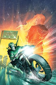 Green Arrow on the open road