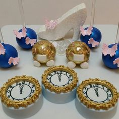 Cinderella Themed Cake Pops and Cookies