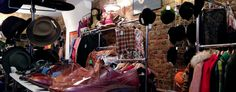 Hunky Dory, a great #vintage #shop on #London's Brick Lane. Photo by alphacityguides.