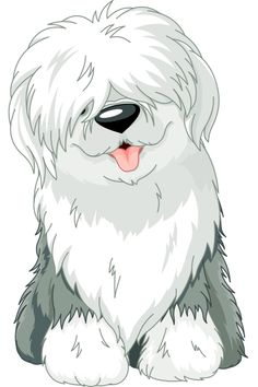 Illustration about Illustration of sitting funny Old English Sheepdog. Illustration of domestic, sheepdog, pets - 27377911 Cartoon Cartoon, Chien Bobtail, Animal Drawings, Cute Drawings, Dog Drawings, Old English Sheepdog, Dog Illustration, Dog Art, Dog Clip Art