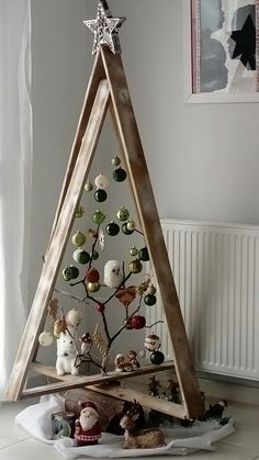 New Christmas Home Decor Inspiration Ideas In every Chris. , New Christmas Home Decor Inspiration Ideas In every Christmas, each family in every house requires to put a bit effort to make . Wooden Christmas Trees, Christmas Tree Design, Noel Christmas, Christmas Tree Ornaments, Funny Christmas, Unique Christmas Trees, Ladder Christmas Tree, Funny Ornaments, Christmas Movies