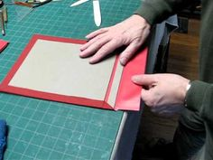 Japanese binding is usually to make a soft bound book. This is a way to bind one in boards. This first part is the preparation of the boards which includes s. Mini Albums, Japanese Stab Binding, Homemade Books, Bookbinding Tutorial, Stitch Book, Bound Book, Japanese Books, Album Book, Book Projects