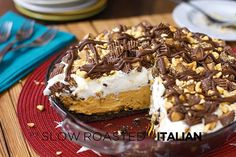 Peanut butter no bake pie: MInd blowing light and fluffy peanut butter filling
