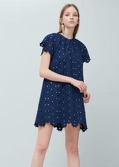 Embroidered crystals dress - Dresses for Woman | MANGO Egypt