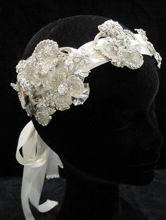 Flapper bridal headband