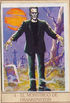 ☆ Monstrous Trading Cards: El Monstruo De Frankenstein «The Monster Of Frankenstein» ☆