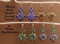 Alluring Rivoli Beaded Earrings Tutorial