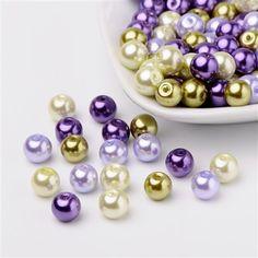 granos de cristal de 100pcs perla 8 mm verde cuentas crean perlas de joyería 304