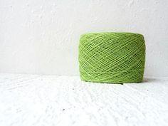 Linen yarn   summer green 309 by YarnStories on Etsy, €5.00