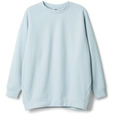 Huge Sweater ❤ liked on Polyvore featuring tops, sweaters, blue top и blue sweater