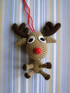 Rudolf - no pattern, but so cute for inspiration