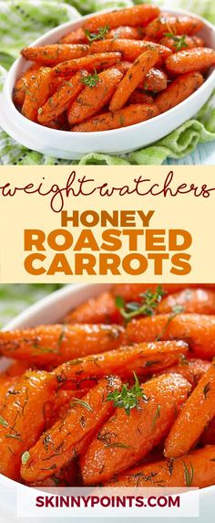 Honey Roasted Carrots (Weight watchers SmartPoints Friendly)