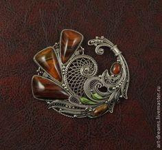 "Brooch handmade.  Fair Masters - handmade brooch ""Autumn Kiss"".  Handmade. Sveta & Serj (art-dreams)"
