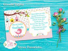 Arte Digital de Convite nos tons de rosa, amarelo e azul tifanny.    Tema: Passarinho    Enviamos as 02 versões:  -para ser impressa em casa ou em gráfica, no tamanho 10x7 ou 10x15 e para envio pela web (whatsapp, facebook, e-mail, etc)    A arte é entregue virtualmente através de e-mail com link...