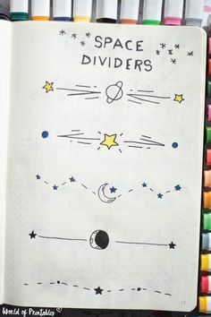 Super Cute Bullet Journal Space Dividers and Free Practice Sheets!