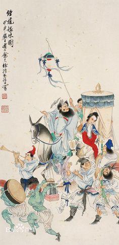 Chinese Scroll, Chinese Art, Korean Art, Asian Art, Guan Yu, Pattern Art, Art Patterns, Ancient China, Nihon