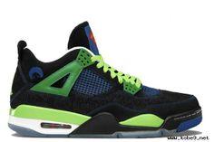 Air Jordan 4 Retro Doernbecher Black Old Royal Electric Green White Men's Sports Shoes