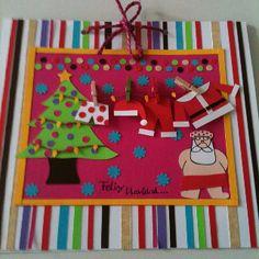 Mi coqueta tarjeta navideña..