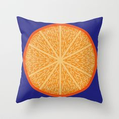 Blue Orange Throw Pillow by Dpat Designs - $20.00