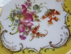Antique Dresden Porcelain Hand Painted Porcelain Bowls Floral Decoration 4