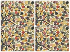 Pimpernel Dancing Branches Set of 4 Placemats