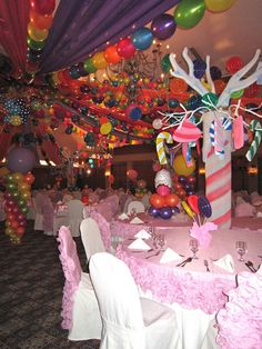 Candyland theme ~ love this decor!
