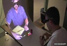 MirageTable: Microsoft presents augmented reality device  Microsoft has shown off an augmented reality system that allows users at different locations to work together on tabletop activities, sharing objects which they can both handle.
