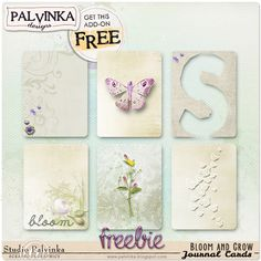 Free Bloom and Grow Journal Cards from Palvinka Designs