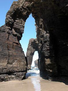 Playa de las Catedrales, Ribadeo, Lugo, Galicia - Spain