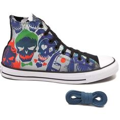 dc689d220f41 Converse Chuck Taylor All Star Hi Suicide Squad Sneaker ( 99) ❤ liked on  Polyvore featuring shoes