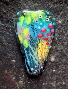jasmin french ' underwater meadow ' lampwork by jasminfrench by pearlie