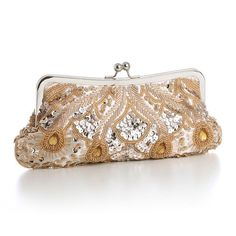 Evening Bag with Beads, Sequins & Gems